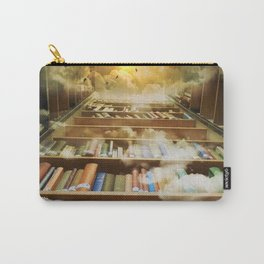 Library of books to heaven surreal portrait Carry-All Pouch