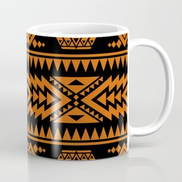 Fine Aztec black and orange pattern for country house decoration Coffee Mug