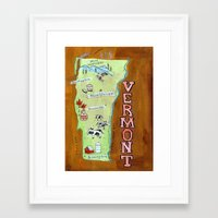vermont Framed Art Prints featuring VERMONT by Christiane Engel