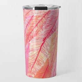 Blush Feathers Travel Mug