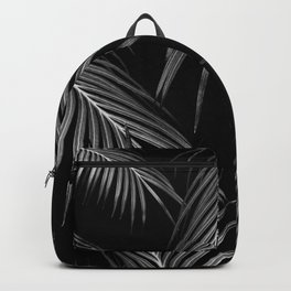 Silver Gray Black Palm Leaves Dream #1 #tropical #decor #art #society6 Backpack