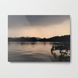 PERSPECTIVE // Sunset over West Lake, Hangzhou Metal Print