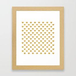 Love 2018 White - Golden heart Framed Art Print