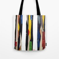 subway Tote Bags featuring Subway by Myles Hunt