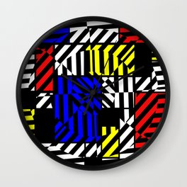 Best Abstract Art (Colored Squares Pattern) Wall Clock