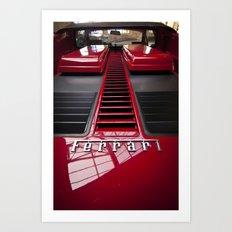 Ferrari behind. Art Print