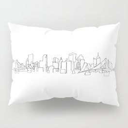 Pittsburgh Skyline Drawing Pillow Sham