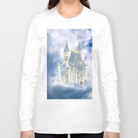 fairytale Long Sleeve T-shirts featuring Fairytale Castle by Simone Gatterwe