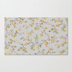 vintage floral vines - spring colors Canvas Print