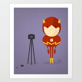 The Flash: My camera hero! Art Print