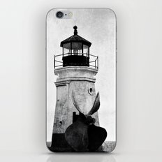 B&W Lighthouse iPhone & iPod Skin