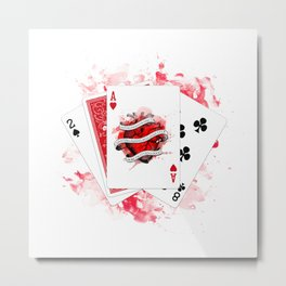 Ace of Hearts - 2018 Metal Print