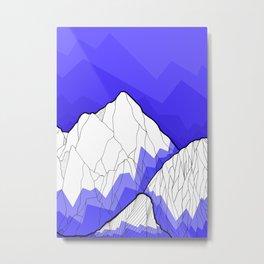The Deep Blue Hills Metal Print