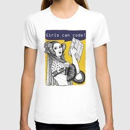 Ada Lovelace - Girls can code! T-shirt