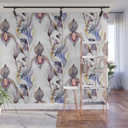 Paphiopedilum, Slipper Orchid Art, Venus Lady Slipper, Exotic Tropical Orchid Wall Mural