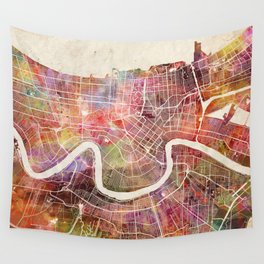 New Orleans map Wall Tapestry