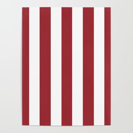 Japanese carmine purple - solid color - white vertical lines pattern Poster