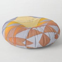 Pyramid Sun Mauve Purple Floor Pillow
