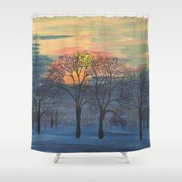 October Sunrise Shower Curtain