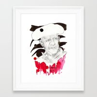 picasso Framed Art Prints featuring Picasso by Mitja Bokun