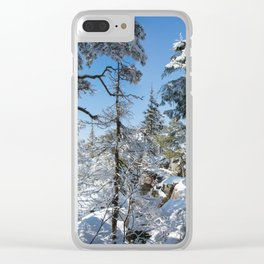 Winter in March Clear iPhone Case