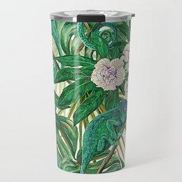 Chameleons and Camellias Travel Mug