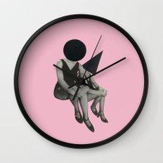 Pink Opaque Wall Clock