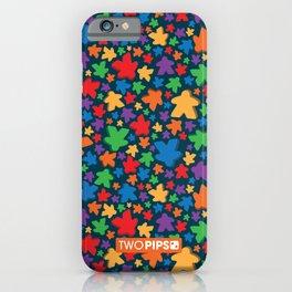 Funky Meeple Pattern iPhone Case