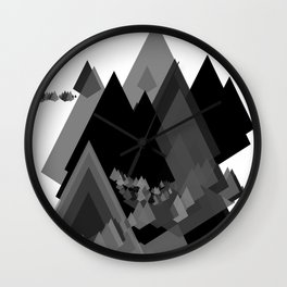 Mountains Inside Wall Clock