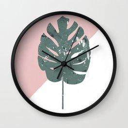 solo monstera Wall Clock