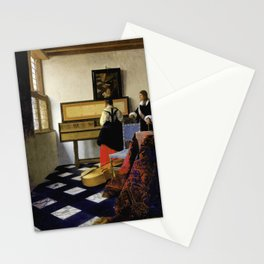 Johannes Vermeer - Lady at the Virginal with a Gentleman, 'The Music Lesson' Stationery Cards