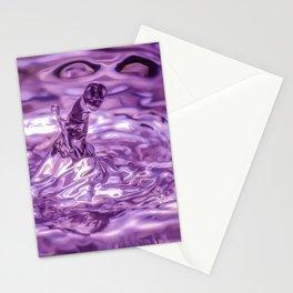 Purple phallic water drop Stationery Cards