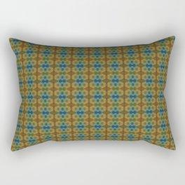 Capricorn Sun Sign Flower of Life Pattern Rectangular Pillow