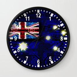 circuit board australia (flag) Wall Clock
