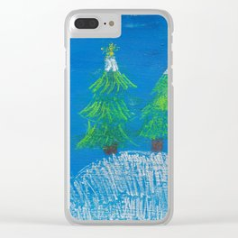 Winter night Clear iPhone Case