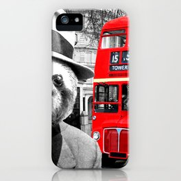 Sloth in London iPhone Case