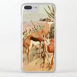 Kuhnert, Friedrich Wilhelm (1865-1926) - Wild Life of the World 1916 v.3 (Springbok) Clear iPhone Case