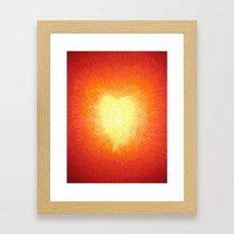 Golden Heart Framed Art Print