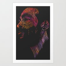 Marvin Gaye Color version Art Print