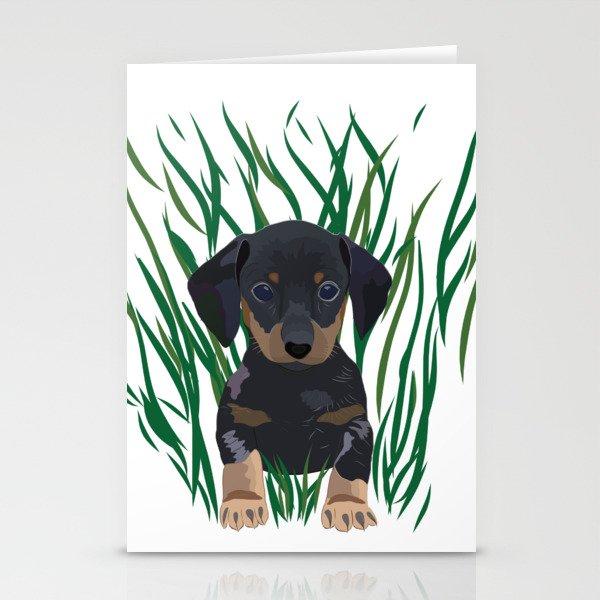 Sausage Dog Design Stationery Cards