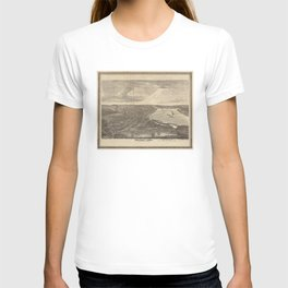 Vintage Pictorial Map of Davenport IA (1875) T-shirt