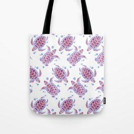 Beautiful Decorative Abstract Turtles Tote Bag