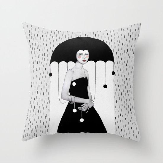 Rainy Minta Throw Pillow