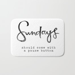 Sundays Bath Mat