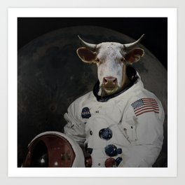 The Cow That Jumped Over the MOOn Art Print