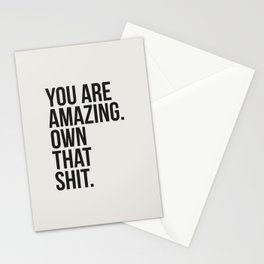 You Are Amazing Funny Quote Stationery Cards