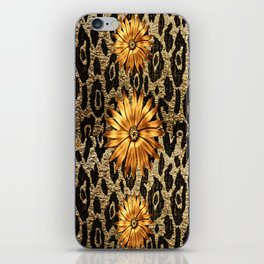 Animal Print Cheetah Triple Gold iPhone Skin