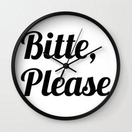 bitte, please Wall Clock