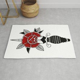 Daga traditional Tattoo Design By Maya  Rug