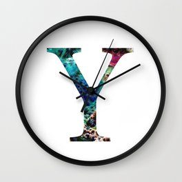 """Initial letter """"Y"""" Wall Clock"""
